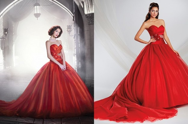 red-wedding-dress-alfredo-angelo-biancaneve