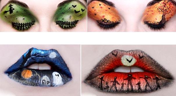 halloween-amke up-labbra-occhi