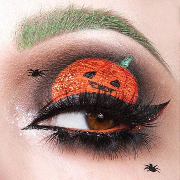 halloween-make up-occhi-zucca