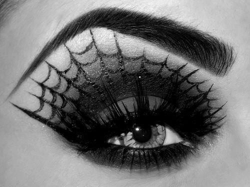 halloween-trucco-occhi-ragnatela