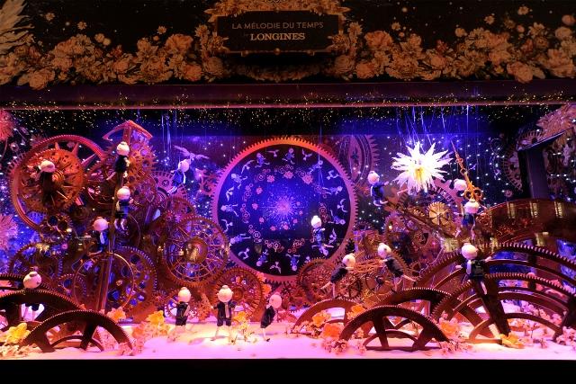 Printemps' Christmas window display.