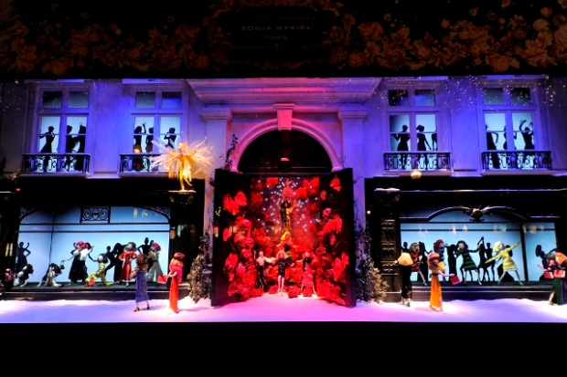Printemps' Christmas window display.