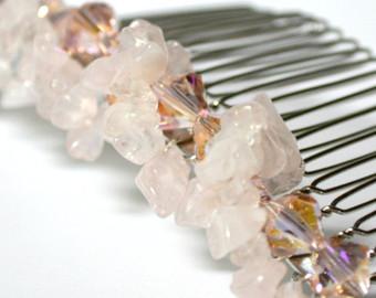 wedding-hair-accessories-rose-quartz