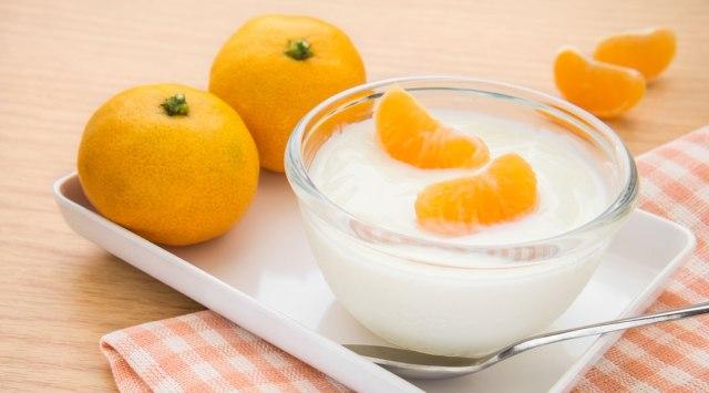 maschera arancia-yogurt
